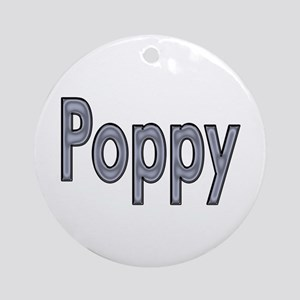 POPPY metal Ornament (Round)