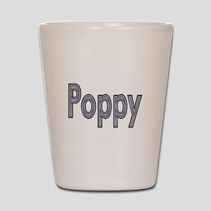 POPPY metal Shot Glass