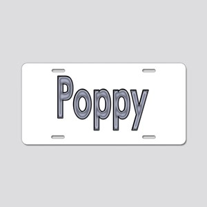 POPPY metal Aluminum License Plate