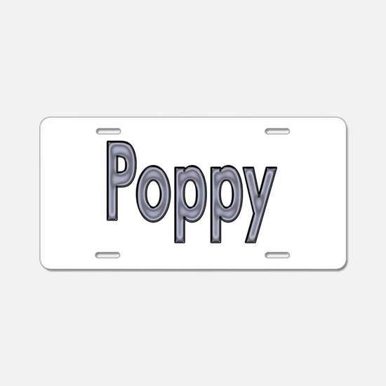 POPPY metal Aluminum License Plate