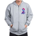 Foo Dog Tattoo Zip Hoodie