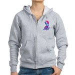 Foo Dog Tattoo Women's Zip Hoodie