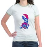 Foo Dog Tattoo Jr. Ringer T-Shirt