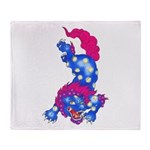 Foo Dog Tattoo Throw Blanket