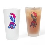Foo Dog Tattoo Drinking Glass