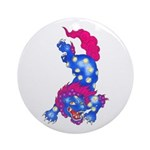 Foo Dog Tattoo Ornament (Round)