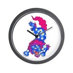 Foo Dog Tattoo Wall Clock