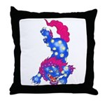 Foo Dog Tattoo Throw Pillow