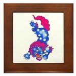 Foo Dog Tattoo Framed Tile