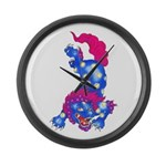 Foo Dog Tattoo Large Wall Clock