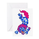 Foo Dog Tattoo Greeting Cards (Pk of 10)