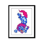 Foo Dog Tattoo Framed Panel Print