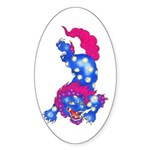 Foo Dog Tattoo Sticker (Oval)