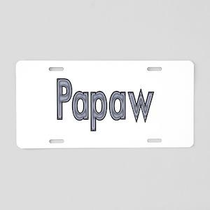 PAPAW metal Aluminum License Plate
