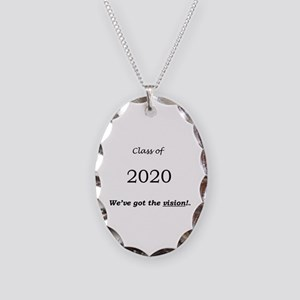 Class of 2020 Necklace Oval Charm