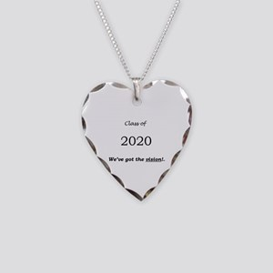 Class of 2020 Necklace Heart Charm