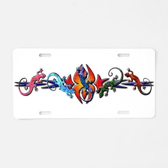 Gecko Banner Aluminum License Plate