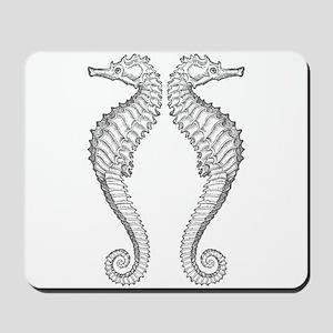 Vintage Seahorse Mousepad