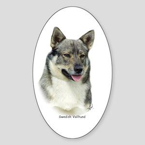 Swedish Vallhund 9K1D-14 Sticker (Oval)