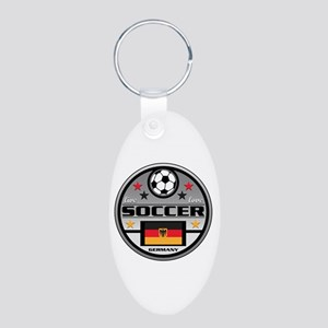 Live Love Soccer Germany Aluminum Oval Keychain