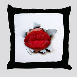 Lips Burster Throw Pillow