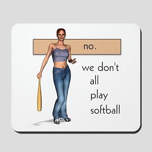 Lesbian Softball Mousepad