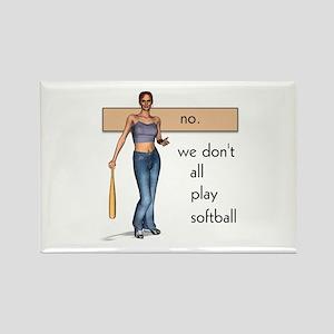 Lesbian Softball Rectangle Magnet