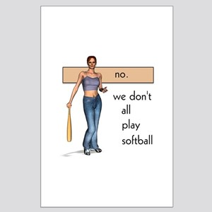 Lesbian Softball Large Poster
