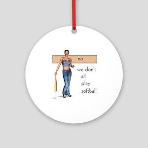 Lesbian Softball Ornament (Round)