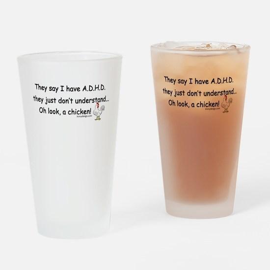 ADHD Chicken Drinking Glass