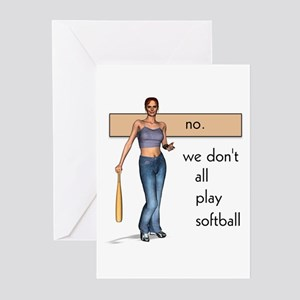 Lesbian Softball Greeting Cards (Pk of 10)