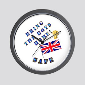 Bring the Boys Home Safe - UK Wall Clock