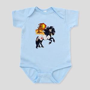 Appaloosa War Pony - backgrou Infant Bodysuit