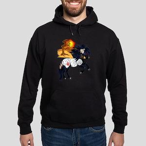 Appaloosa War Pony - backgrou Hoodie (dark)
