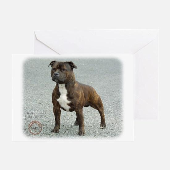 Staffordshire Bull Terrier 9F23-14 Greeting Card