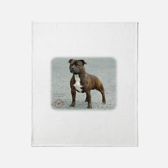 Staffordshire Bull Terrier 9F23-14 Throw Blanket