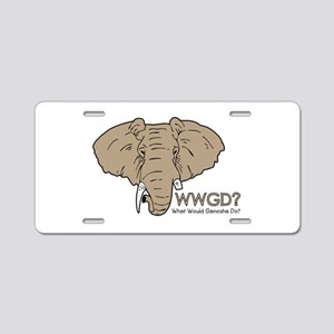 What Would Ganesha Do? Aluminum License Plate