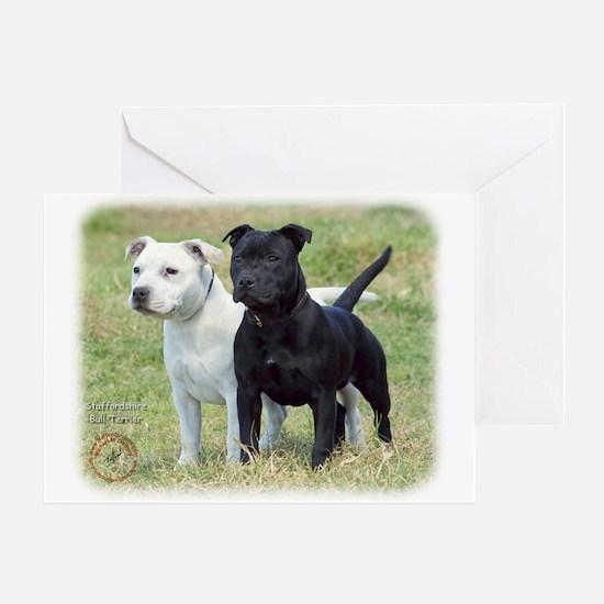 Staffordshire Bull Terrier 9P033D-100 Greeting Car