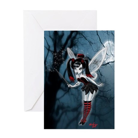 Dark Gothic Fairy Greeting Card