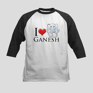 I Heart Ganesh Kids Baseball Jersey