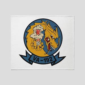 VA-192 Golden Dragon Throw Blanket
