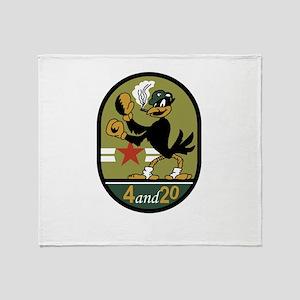 VA-45 Blackbirds Throw Blanket