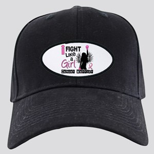 Licensed Fight Like a Girl 26W Black Cap