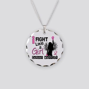Licensed Fight Like a Girl 2 Necklace Circle Charm