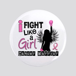 "Licensed Fight Like a Girl 26W 3.5"" Button"