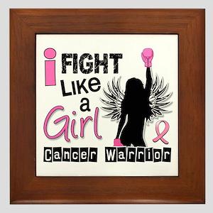 Licensed Fight Like a Girl 26W Framed Tile