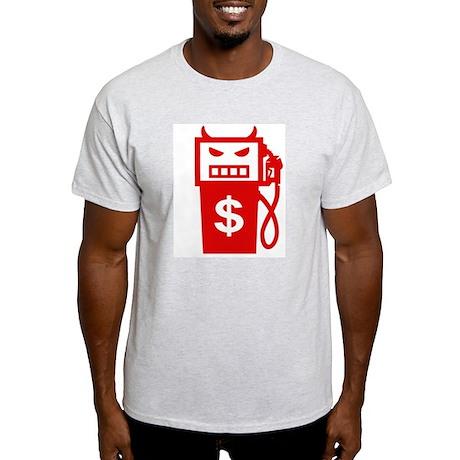 Evil Gas Pump Ash Grey T-Shirt