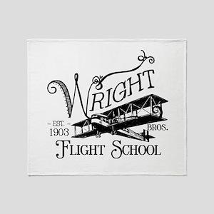 Wright Bros. Flight School Throw Blanket