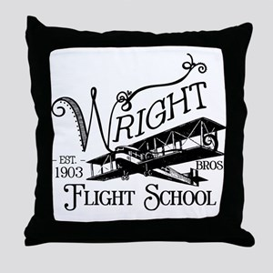 Wright Bros. Flight School Throw Pillow