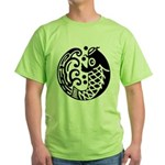 carp and wave Green T-Shirt